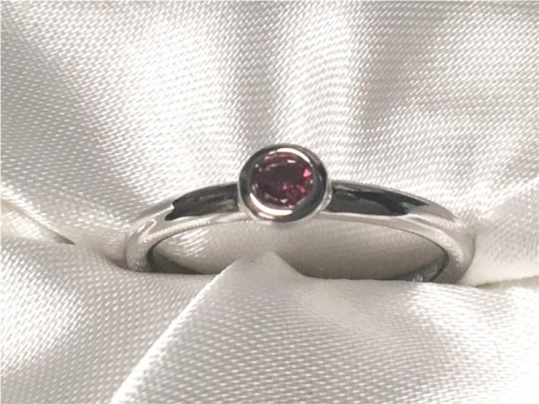 Pink Tourmaline Ring by Ostbye