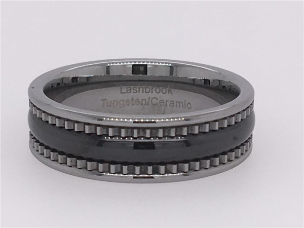 Tungsten Ceramic Band by Lashbrook Designs