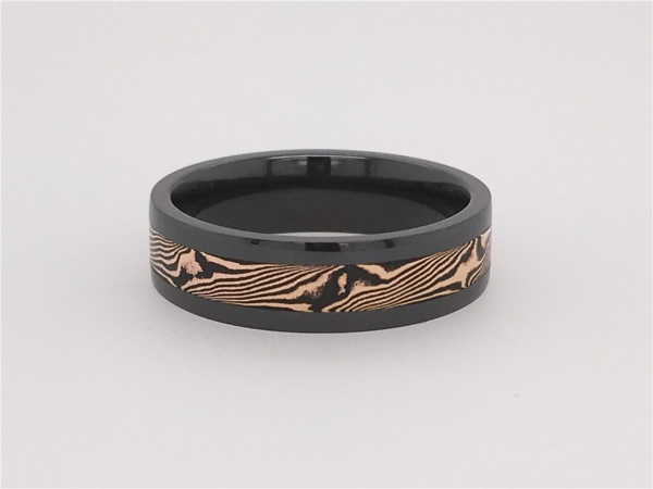 Mokume Inlay Band by Lashbrook Designs