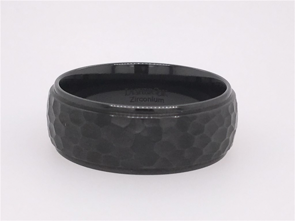 Black Zirconium Band by Lashbrook Designs