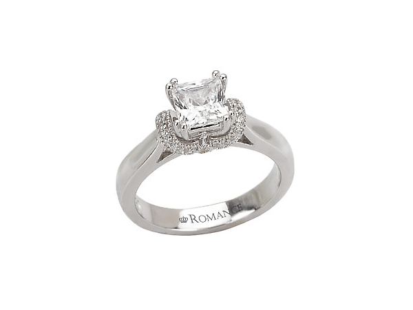 2/5 Ct Twt, 14K White Gold Diamond Engagement Ring Containing One 0.32 Ct & 0.11 Ct Side Diamonds, 0.43 Ct Twt