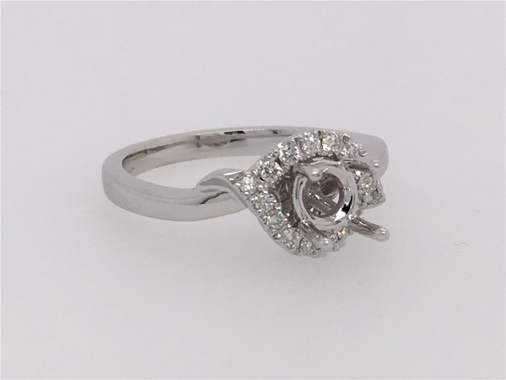 Diamond Semi-Set Engagement Ring that will hold your choice of any 5mm stone. containing 1/6 twt of Diamonds